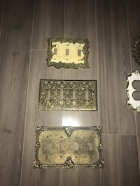Vintage brass plug/switch covers