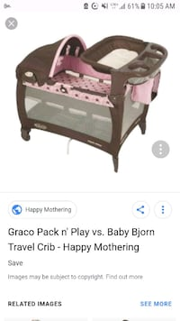 baby's brown and white Graco pack n play Barrie, L4N 0G3