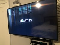 """49"""" Samsung Smart TV. Damage to the display screen from speaker hitting it. Baltimore, 21239"""