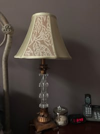 Brown and white table lamp Charlotte, 28262