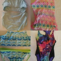 4 bathing suitsuits size 10 girls