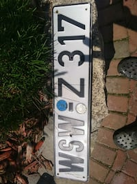 authentic German license plate Calgary, T2Z