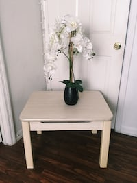 white and brown wooden side table Kissimmee, 34741