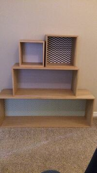 Wall-mount wooden boxes/shelves