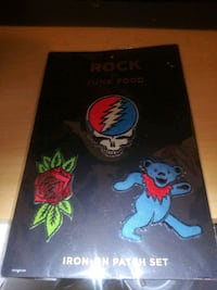 Rock Iron-On Patch Set by Junk Food Bakersfield, 93308