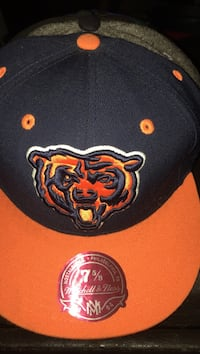 orange and black Chicago Bears fitted cap Beloit, 53511