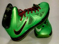 pair of green Nike basketball shoes Fostoria, 44830