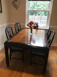 Rectangular Century Chin Hua Collection dining table with six chairs & 2 leaves   Arlington, 22206