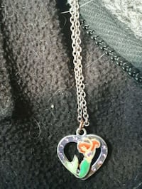 silver chain necklace with heart pendant Calgary, T2J