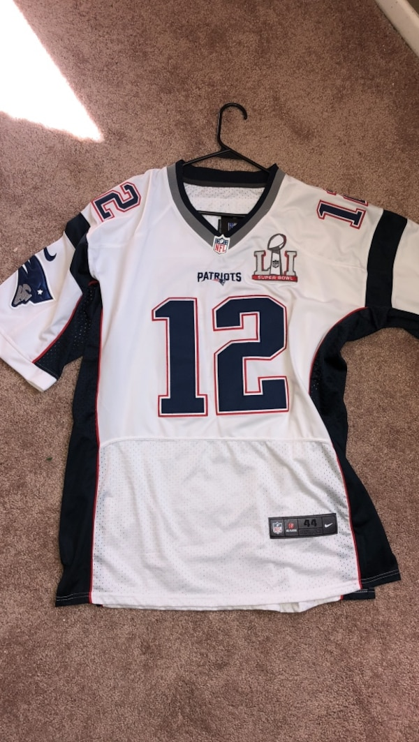 reputable site 21ae7 1946f Tom Brady Authentic NFL 12 super bowl 51 Jer