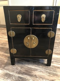 3 Drawers and 2 Door Black & Bronze End Table Night Stand table!! Plainfield, 60585
