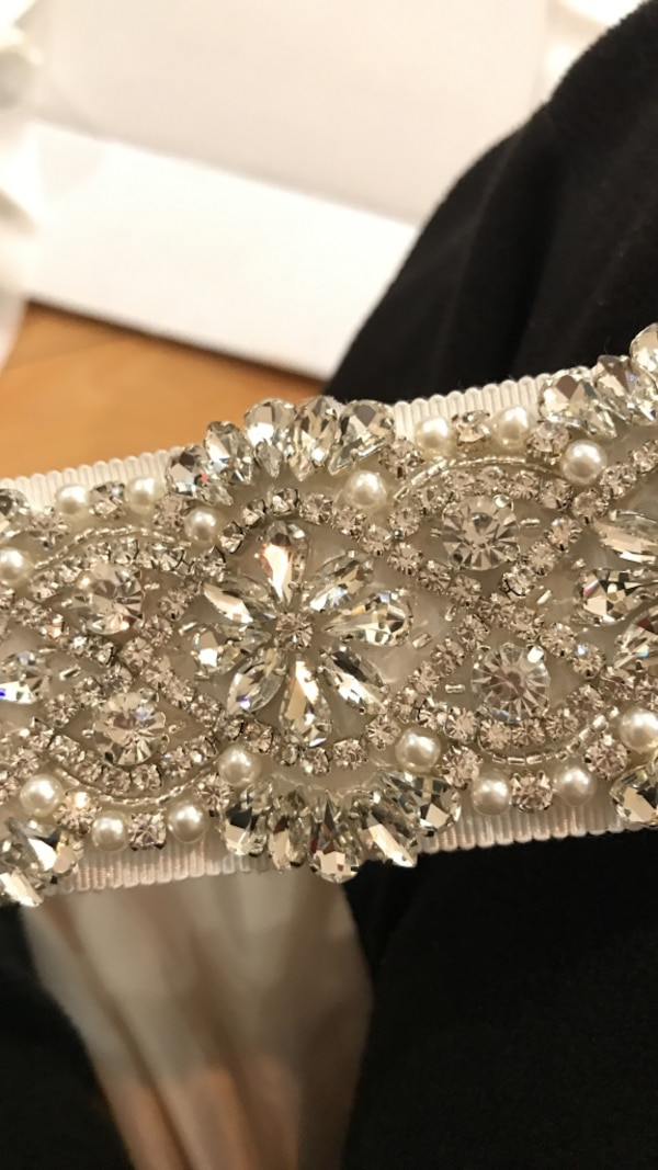 Crystal And Pearl Wedding Belt From Davids Bridal Brand New