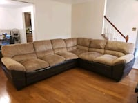 Coziest Brown L Shape sofa Burke, 22015