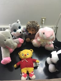 Assorted animal plush toys