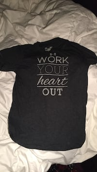 Work Your Heart Out printed black shirt North Stormont, K0A 1R0