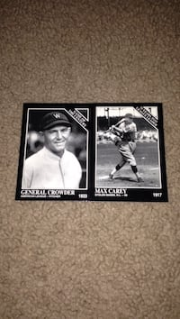 general crowder  and max carey baseball trading cards East Peoria, 61611