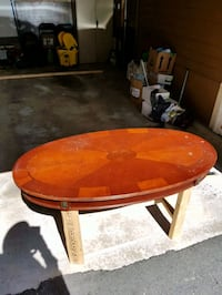 round brown wooden coffee table Surrey, V3V 6J5