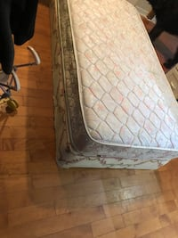 white and gray floral mattress Surrey, V3T 2S8