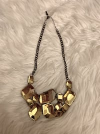 Yellow jewelled statement necklace Vancouver