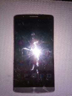 silver LG Android smartphone