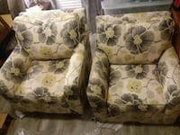 white, green, and brown floral fabric sofa chair Cartersville, 30121