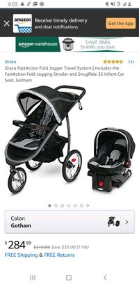 Greico jogging stroller and car seat