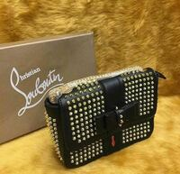 women's black and silver Christian Louboutin leather bag with box Brampton, L6Y 4S5