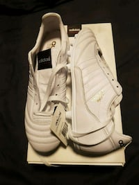 Adidas white and gold Copa mundial size 8