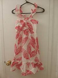 white and pink floral sleeveless dress Toronto, M3N 2T2