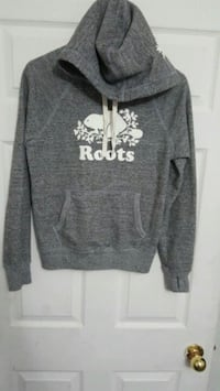heather-gray Roots pullover hoodie with pockets Toronto, M9N 1T4