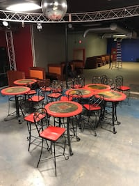 six round orange tables with chairs North Chesterfield, 23234