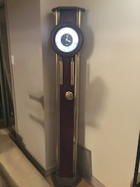 black and stainless steel pendulum clock Vaughan, L4L 1S2
