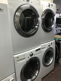 white-and-gray front-load clothes washer and dryer set New York, 10459