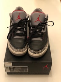 Black Cement Retro 3'S Size 10 NYC VNDS