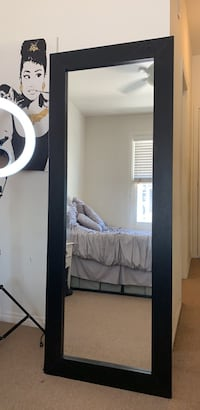 Large Black Rectangle Mirror Los Angeles