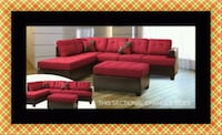 Red sectional with ottoman New Carrollton, 20784