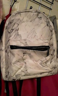 cute small white marbled backpack New Westminster, V3M