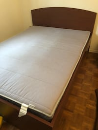 Brown Bed Frame AND Mattress for SALE.  Côte-Saint-Luc, H4W 2Z1