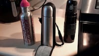 Thermos and water bottle .Available . Burlington
