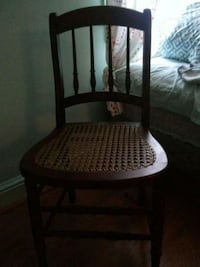 brown wooden windsor armless chair Frederick, 21702