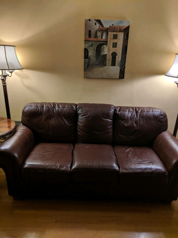Surprising Brown Leather Couch Bralicious Painted Fabric Chair Ideas Braliciousco