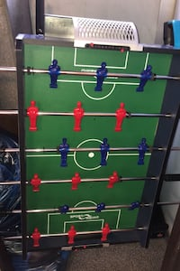 Portable foosball table top game