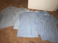 Blue school polos 5 short slevee and 2 long xxl kids. One jogger size 20 and pant husky 18 Oxon Hill, 20745