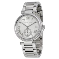 round silver-colored chronograph watch with link bracelet Wilsonville, 97070