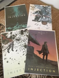Injection #1-4 comic books