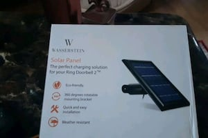 Brand new solar panel and mount for RING DOORBELL SYSTEM