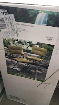 Garden bistro chairs, 2 new never opened boxes $75 or $45 for 1 box Gaithersburg, 20882