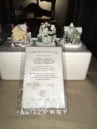 Set of 3  Thomas Kinkade ornaments. W/ certificate....Wb Meet only  Wilkes-Barre, 18702