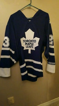 blue and white Toronto Maple Leafs jersey shirt Welland, L3C 4H5