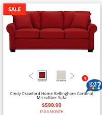 Red Sofa -  Rooms To Go, good condition.